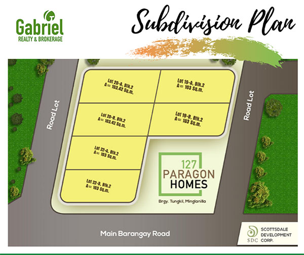 subdivision plan of 128 paragon homes minglanilla