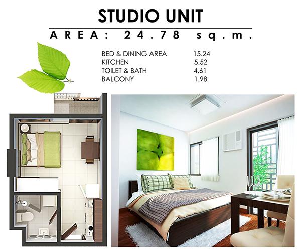 studio floor plan of antara cebu