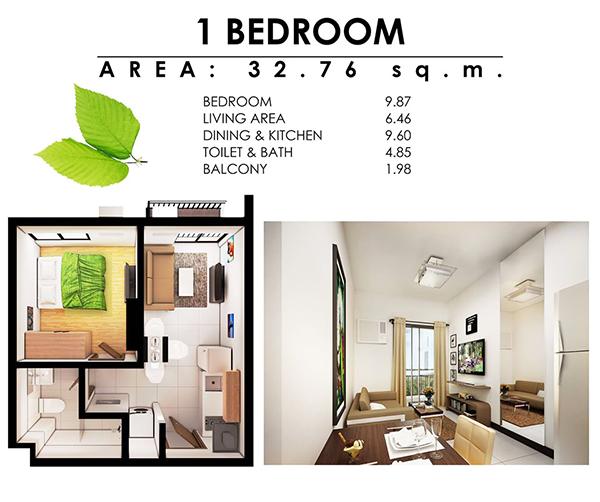 1 bedroom floor plan in antara condominium