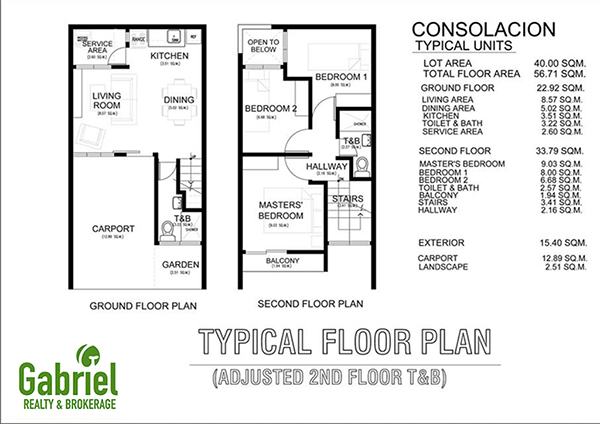 typical floor plan of townhouse
