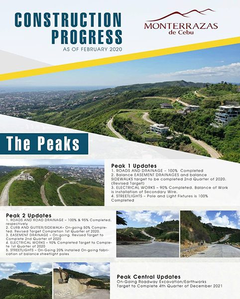 the peaks construction update of monterrazas de cebu
