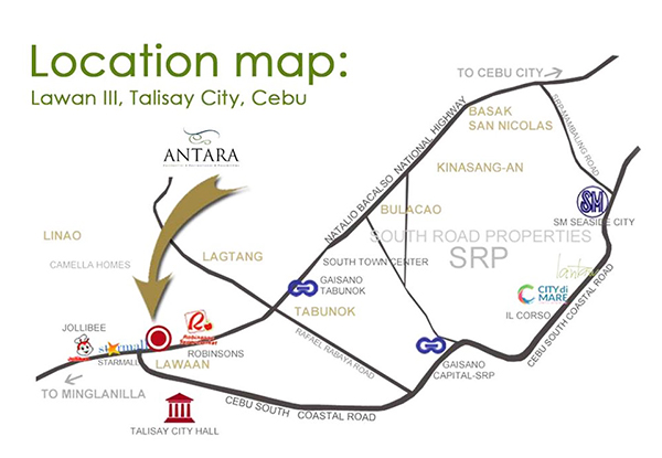 location of antara condominium talisay