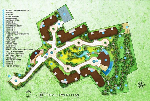 site development plan of antara condominium talisay
