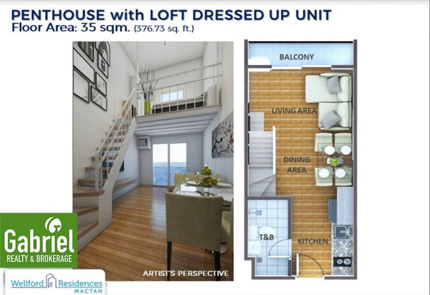 penthouse with loft model unit