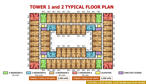 tower 1 and 2 building floor plan