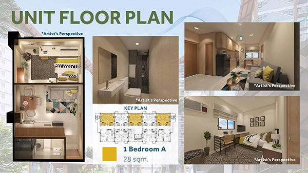 1-Bedroom A unit floor plan