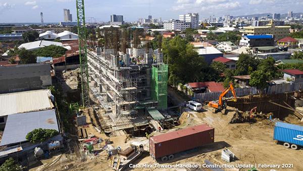 casa mira towers mandaue construction update