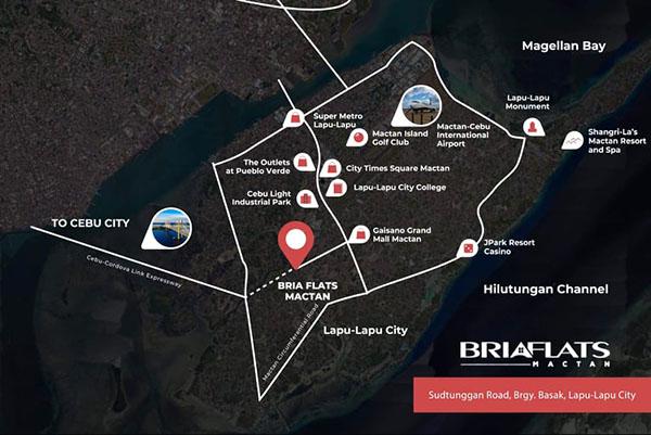 location of bria flats mactan, a ready for occupancy condo