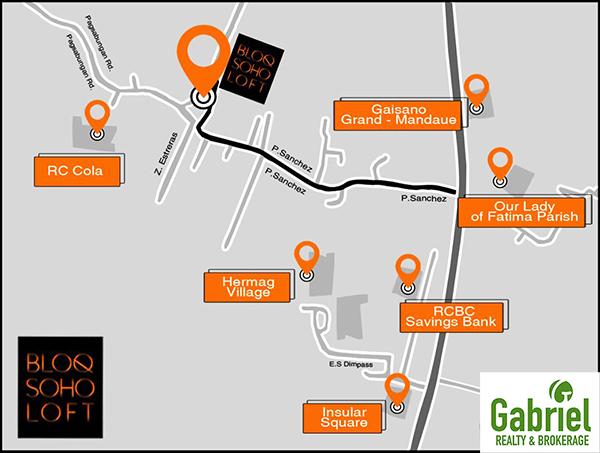 Bloq SoHo Loft vicinity map