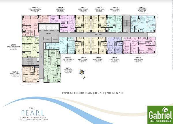 typical floor plan of the pearl global residences