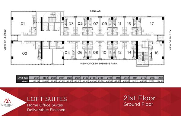 home office loft suites in meridian by avenir cebu