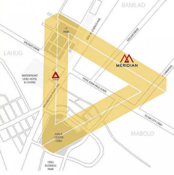 location of meridian by avenir cebu
