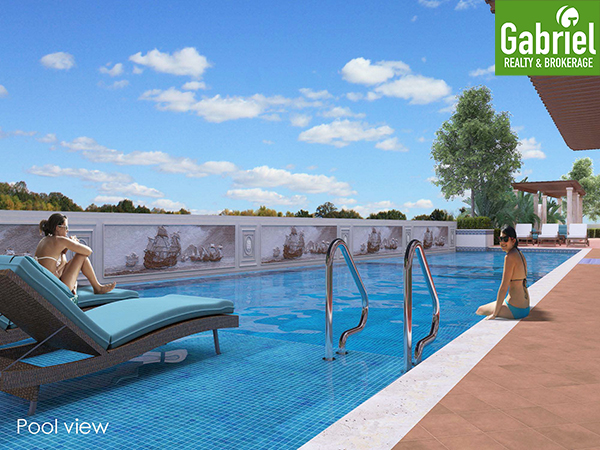 pool area of mactan newtown condominium