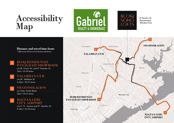 accessibility map of bloq soho lofts mandaue