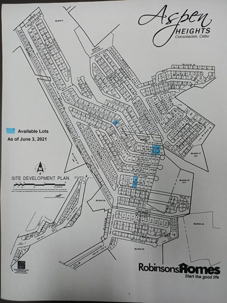 aspen heights lot map with inventory