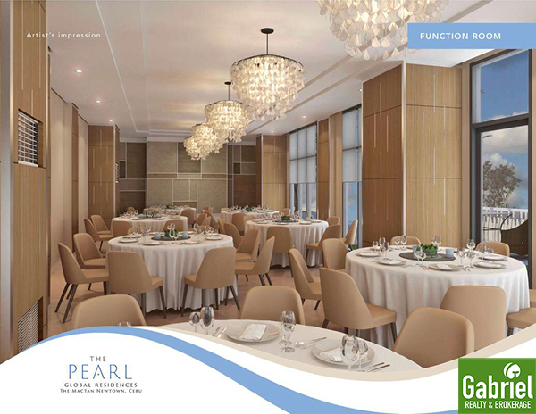 function room of the pearl global residences