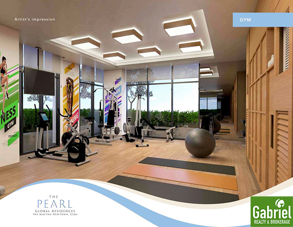 fitness gym in mactan newtown condominium