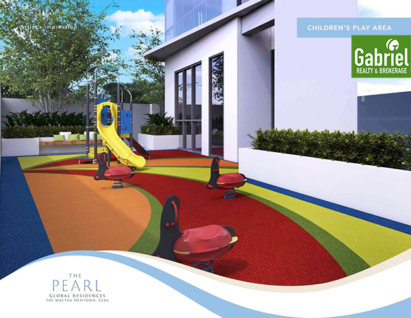 children's play area in mactan newtown condo