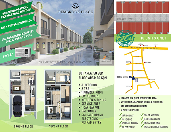 pembrook place talisay very near the south road properties