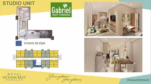 studio floor plan in royal oceancrest bohol