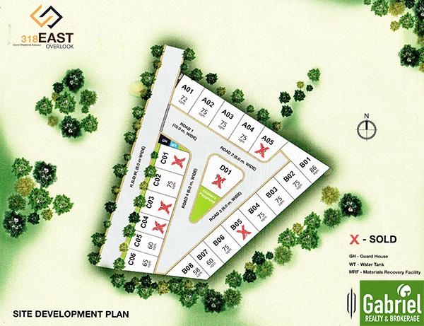 site development plan of 318 east overlook