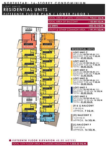 15th floor building floor plan
