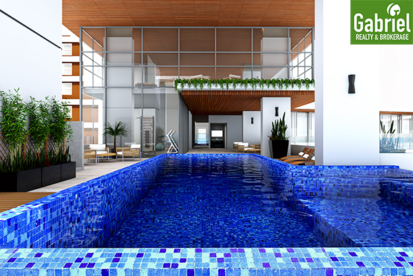 swimming pool in casa mira towers guadalupe