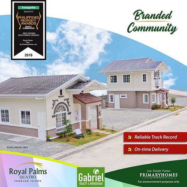 branded community in royal palms bohol