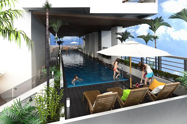 swimming pool in northstar condominium cebu doctors university