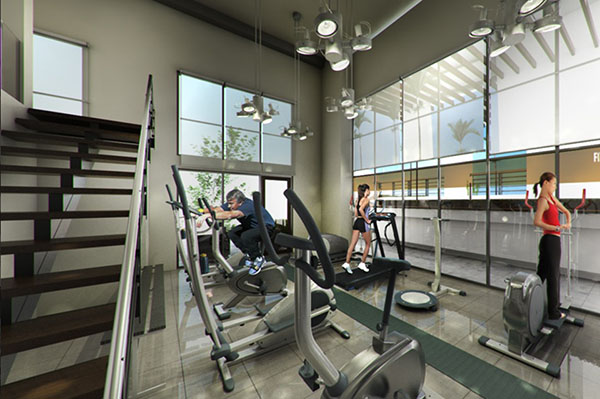 fitness gym in northstar condominium for sale in cebu