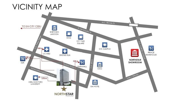 vicinity map of north star condominium