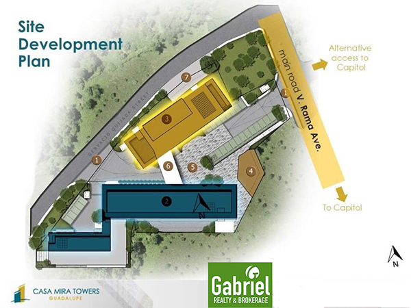 site development plan of casa mira towers guadalupe
