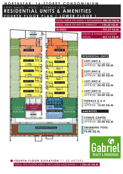 building floor plan of northstar condominum