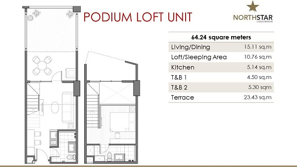 podium loft unit floor plan