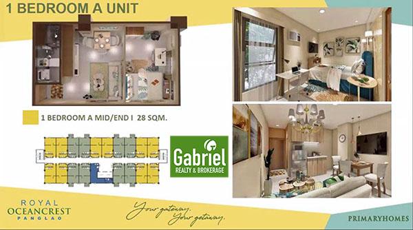 1 bedroom floor plan in royal oceancrest panglao