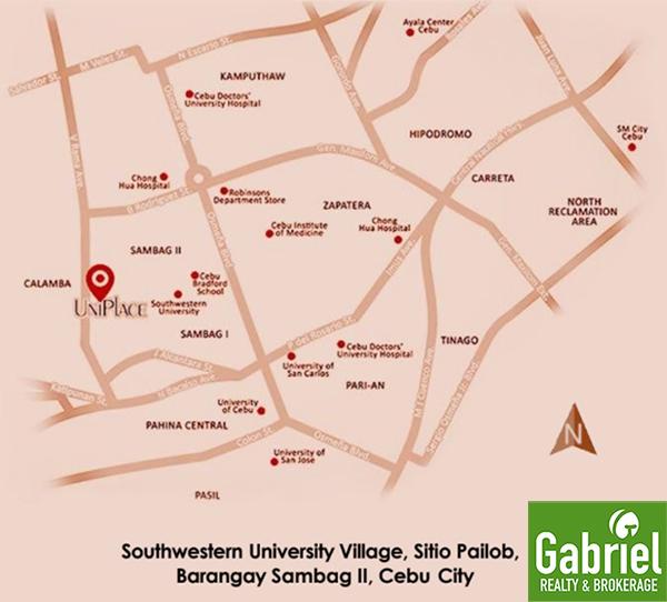 UniPlace Cebu location in Southwester University Village