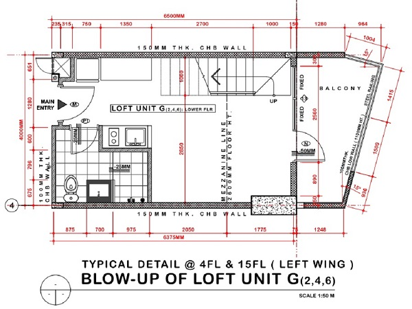 loft unit floor plan