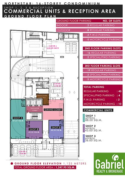 building floor plan in northstar condominium