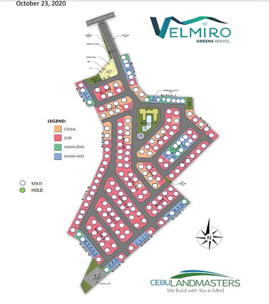 site development plan of velmiro greens bohol