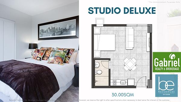 studio de luxe floor plan