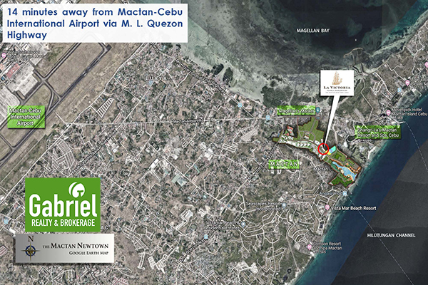 vicinity map of belmont hotel in mactan newtown