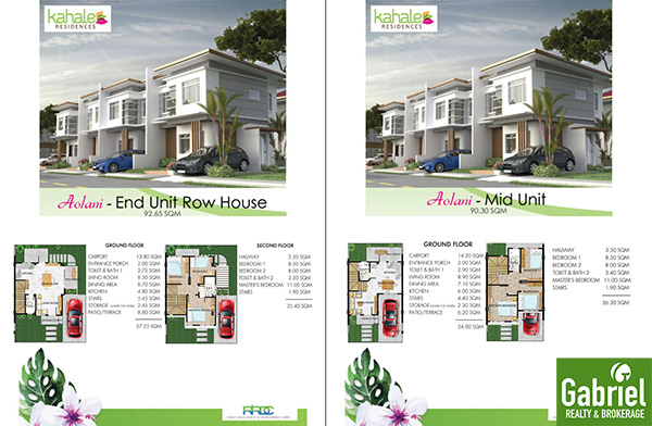 townhouse floor plan, kahale residences minglanilla