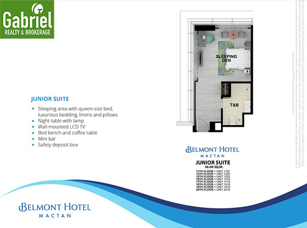 junior suites floor plan