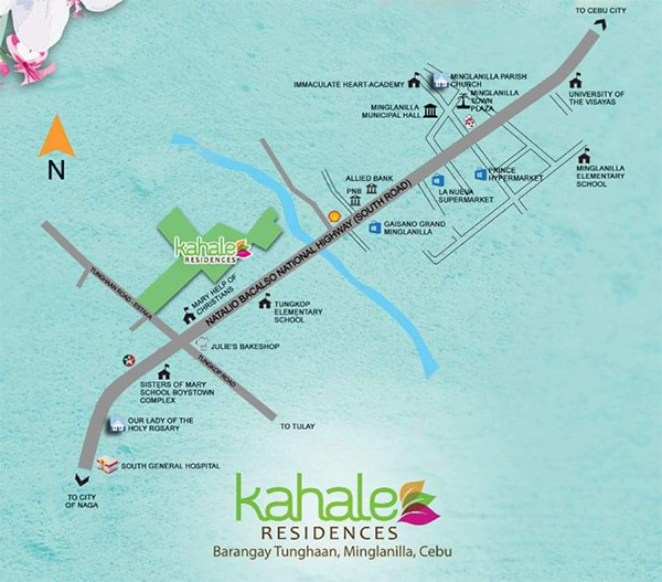 vicinity map of kahale residences minglanilla