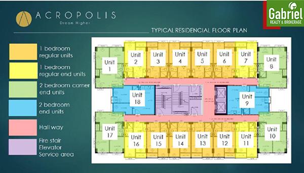 acropolis residences floor plan