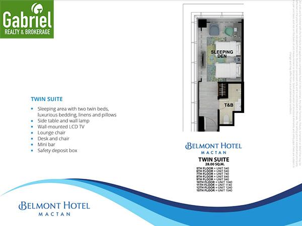 twin suites floor plan in belmont hotel mactan