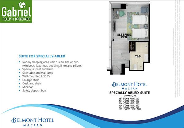 pwd unit in belmont hotel