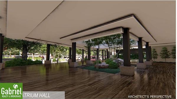 atrium hall in acropolis residences