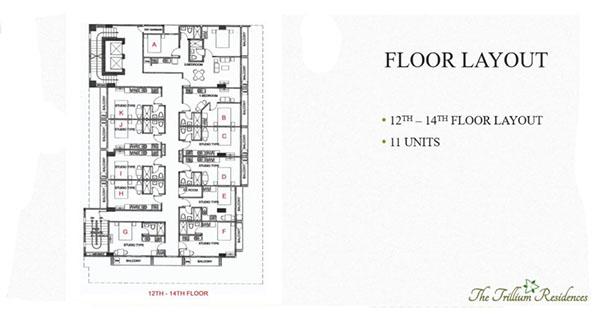 building floor layout in trillium residences