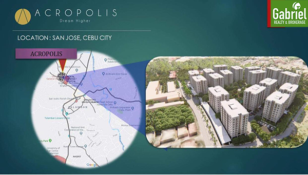 vicinity map of acropolis residences